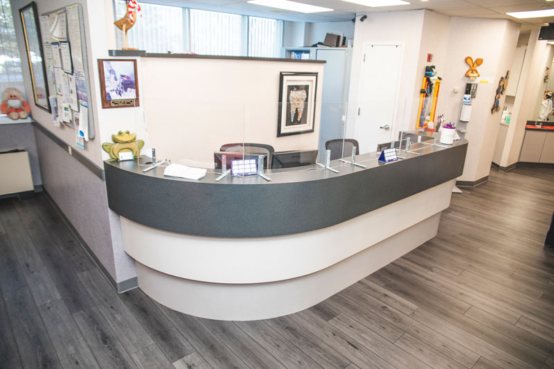 Front desk Faber Orthodontics in Melville, NY